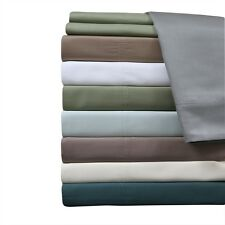 100% Viscose Bamboo 600 TC Sheets, Silky Super Soft Queen Deep Pocket Sheet Set