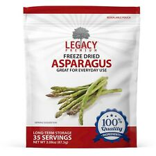 FREEZE DRIED ASPARAGUS - BULK EMERGENCY NON-GMO FOOD STORAGE SUPPLY- DRIED
