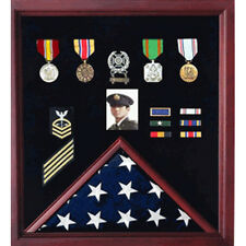 Flag Photo Display Case With Badge Display Case Hand Made By Veterans
