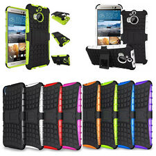 Fashion Heavy duty Hybrid RuggedKickstand Shockproof Hard Case Cover For HTC