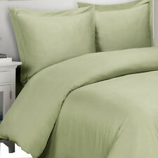 100% Viscose From Bamboo Duvet Covers, Super Soft Sage Solid Duvet Cover Sets