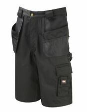 Mens Lee Cooper Cargo Shorts Holster Pocket Work Casual Black LC807 Size 30-42