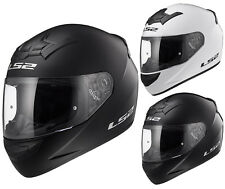 LS2 FF352 SOLID COLOUR FULL FACE LIGHTWEIGHT MOTORCYCLE CRASH HELMET