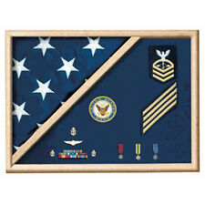 5 X 9.5 Flag Memorial Case - Military Uniform Fabric Hand Made By Veterans