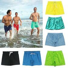 Mens Board Shorts Surf Beach Swim Pants Quick Dry Boardies PLAIN 8 Color S-XL
