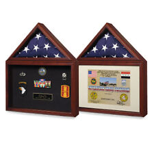 Flag plus certificate display case Hand Made By Veterans