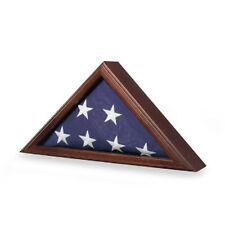 American Flag Case - Great Wood Flag Case Hand Made By Veterans
