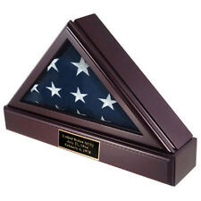 Officers Flag Display Case And Pedestal For 3ft X5ft Flag Hand Made By Veterans