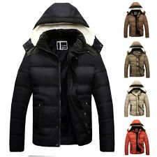 Cool Fashion Mens Winter Slim Fit Warm Coat Cotton Padded Jacket Parka Clothing