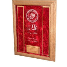 Marine corps Awards Display Case, Personalized USMC shadowbox Made By Veterans