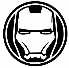 IRON MAN Marvel Avengers Comic superhero Vinyl Decal Sticker car Oracal shield