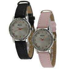 NEW Ladies Fashion with Diamonte Face WATCH by Ravel CLASSIC Coloured Strap GIFT