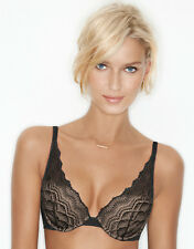Wonderbra My Pretty Push Up Black Lace Bra Increases Cup By 1 Size