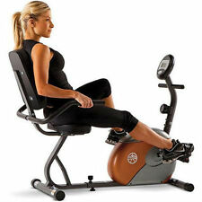 Exercise Bike Recumbent Aerobic 8-Levels Smooth Magnetic Resistance Wide Seat