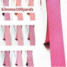 """Grosgrain Ribbon 2.5"""" /63mm. Wholesale 100 Yards, all Pink s to Choose"""
