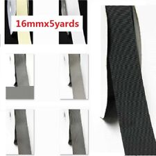 "by 5 Yards Grosgrain Ribbon 5/8"" /16mm for Wedding White Gray n Blacks"