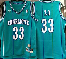 "ALONZO MOURNING CHARLOTTE HORNETS ""ZO"" NICKNAME HWC THROWBACK JERSEY"