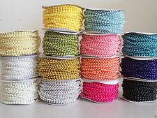 4mm Pearl Trim String Bead Accent for Crafting, Scrapbooking, Decoration