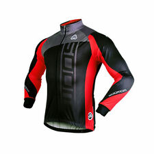 Sobike Cycling Sport Fleece Thermal Jacket Long Sleeves Jersey Coat-Michael Red