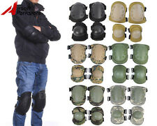 Tactical Airsoft Outdoor Knee Elbow Protective Pads Gear Skateboard Paintball