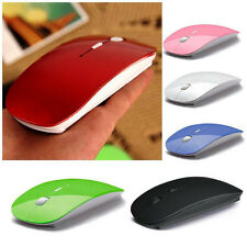 2015 New Super Thin USB Optical Wireless Mouse 2.4G Receiver For Laptop 6 Colors
