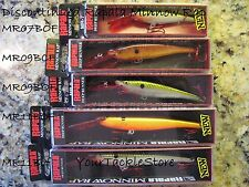 Rapala MR Minnow Rap 07 09 11 NIP x1 Pick Color &Qty DISCONTINUED MR07 MR09 MR11