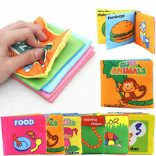 Development Intelligence Cloth Cognize Book Learn Number Nature Animal Toy Baby