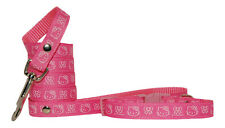 "handmade red ""pink hello kitty"" small dog/puppy collar & lead 10-15"""