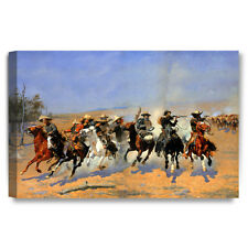 DecorArts A Dash for the Timber Frederic Remington Giclee Prints 24x16
