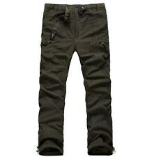 New Men's overalls winter fur lined pants straight leg loose casual trousers