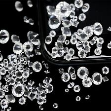Clear Glass Rhinestone Diamond Confetti Wedding Table Scatter 3mm,4mm,5mm