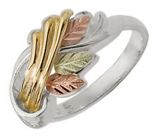 Black Hills Gold on Sterling Silver & 10K Gold Ring Size 4 to 10