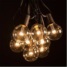 50 Foot LED Warm White Globe String Lights - Set of 50 G50 Clear LED Bulbs