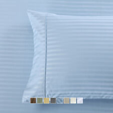 Wrinkle Free 650 TC Stripe Pillow Cases, Cotton Blend 2PC / Pair Pillowcases Set