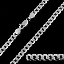 925 Sterling Silver Curb Chain Link Necklace 5mm 16-32 Inch Festival Gifts