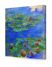 Water Lilies Red by Monet  Giclee Print Stretched Canvas Gallery Wrapped