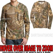 Russell Mens REALTREE XTRA Camo LONG SLEEVE T-Shirt w/ POCKET S-XL 2XL, 3XL NEW!