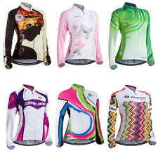 Women's Sportwear Cycling Jersey Bike Bicycle Long Sleeve Cycling Clothing Top
