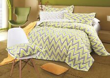 Odyssey Roxbury Chevron Cotton Quilt Doona Cover Set - SINGLE DOUBLE QUEEN KING
