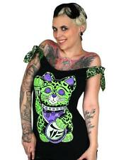 Too Fast Punk Kitty Talulah Tee Leopard Rockabilly Punk Glam Tattoo Goth Scene