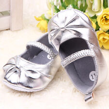 Cute Baby Girl Shoes Toddler Girl Bows PU Leather Shoes Prewalker Size 4 5 6 M18