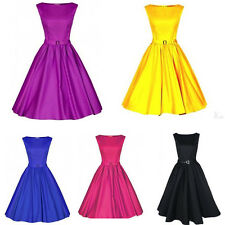 Country Women 50s 60s Retro Rockabilly Pinup Cocktail Party Evening Dress villag