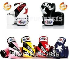 MUAY THAI KICK BOXING GLOVES FAIRTEX 8-16 OZ NATION PRINTS TRAINING SPARRING MMA