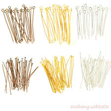 Wholesale 100 pcs Silver Golden Head/Eye/Ball Pins Finding 21 Gauge Many size