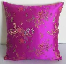 Deep Azalea Dragon Chinese Brocade Cushion Cover Small to Large Size  BRCC-716