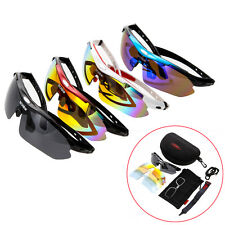 Polarized Cycling Driving Glasses Eyewear Bike Sports Sunglasses 5 Lens Goggles