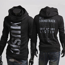 Hot Fashion Men's Slim Top Designed Sexy Hoody Jacket Coat Outwear Tops 4 size