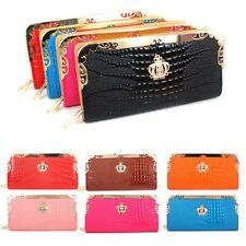 PU Leather Lady Women Clutch Purse Leather Wallet Card Phone Holder Handbag Bags