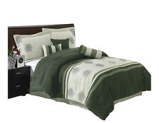 Sage Grace Micro Suede Bed in a Bag Bedding Set (7-PCs)