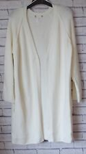 MARKS & SPENCER AUTOGRAPH LONGLINE BOUCLE CARDIGAN - IVORY - UK SIZE 8 - 22